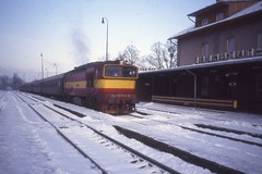 753 211-2, Frenštát pod Radhostěm Nádraží, Czechoslovakia, Feb 1992