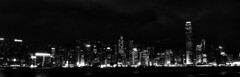 Hong Kong - Central Skyline Black and White