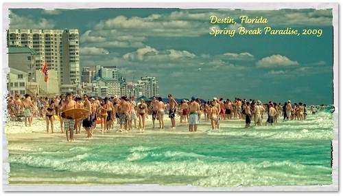 vacation florida springbreak destin 2009 sunbathers catchycolorsgreen polaroideffect niksoftware nikonnikkor70200mmf28vr colorefexpro30