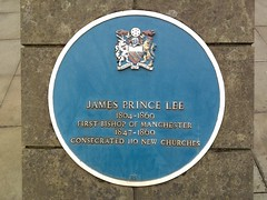 Photo of James Prince Lee blue plaque