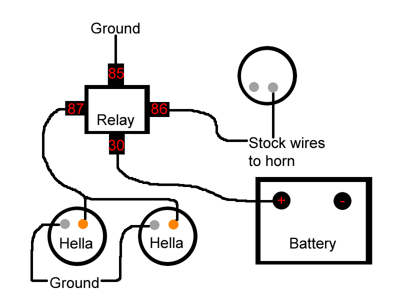 Wiring Diagram For Car Horn : Wolo horn relay wiring diagram ford f