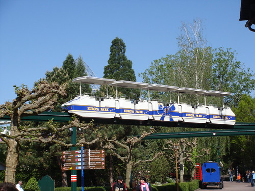 Monorail Ride at Europa Park in Rust Germany