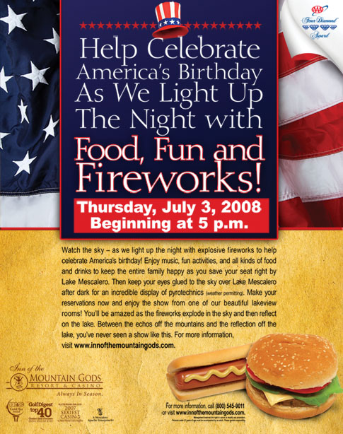 3rd of July Fireworks Poster 2008