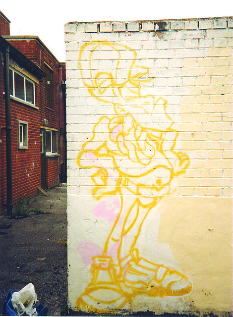 Buck - unfinished character 1989, Failsworth, Manchester