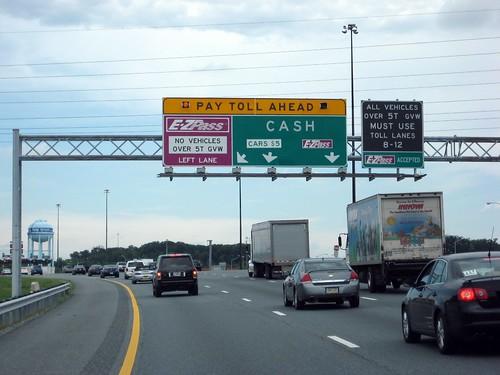 Toll Ahead (JFK Highway, Maryland)