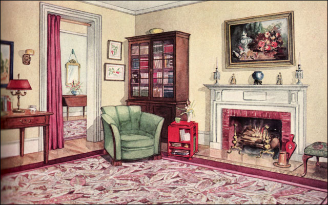 1920s interior part3 a gallery on flickr for Living room 1930s