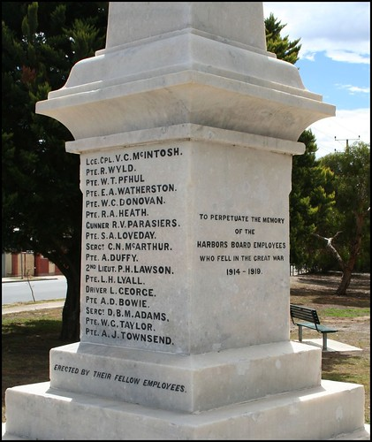 South Australian Harbors Board WWI Memorial