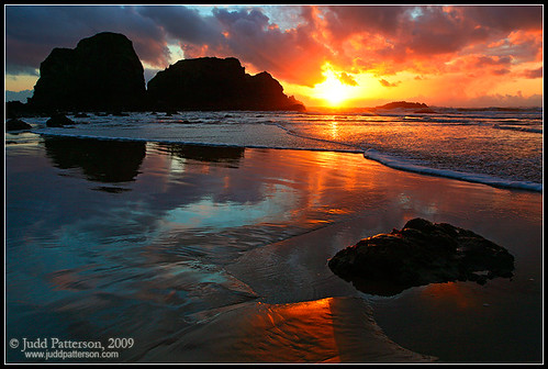 sunset oregon coast pacific stockphotography juddpatterson
