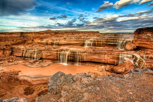 arizona water river landscape waterfall navajo hdr grandfalls