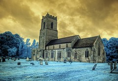 Infrared HDR St Andrew's church Wood Dalling Norfolk