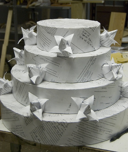 wedding cake made out of divorce papers by ktyazoo