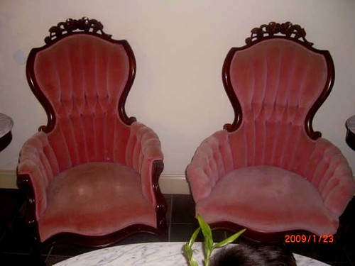 victorian parlor chairs in PINK - Victorian Parlor Chairs In PINK - A Photo On Flickriver