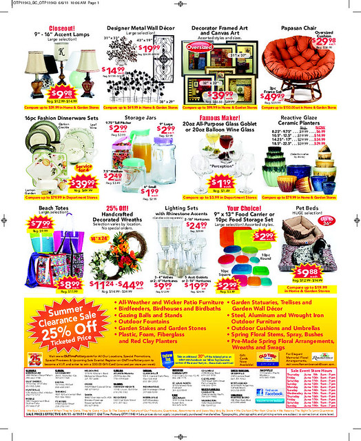 photo about Old Time Pottery Coupon Printable titled Coupon aged period pottery / Sears optical coupon codes canada