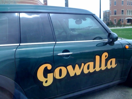 Found the Gowalla car, but no check in - where's my icon! ;-)