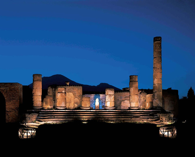 Pompeii - Temple of Jupiter - by night