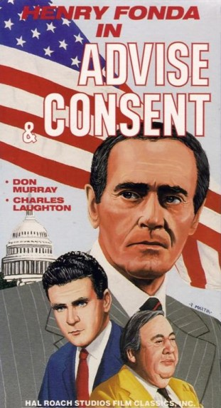 advise and consent video treasures vhs front