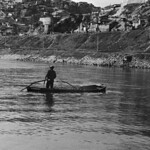 Gravel boat on Han River, 1968