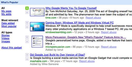 Google's What's Popular