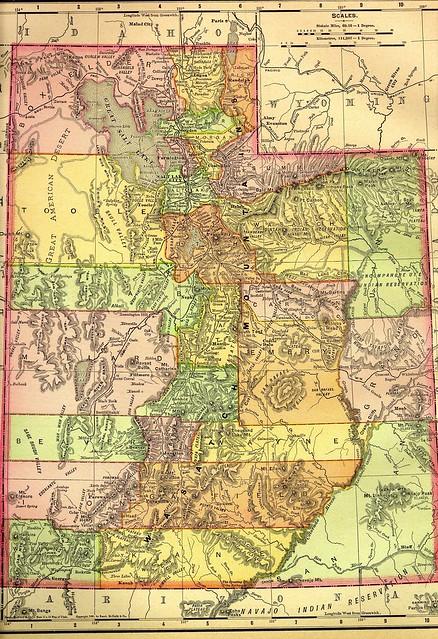 1895 Railroad Map Of Utah  Flickr  Photo Sharing