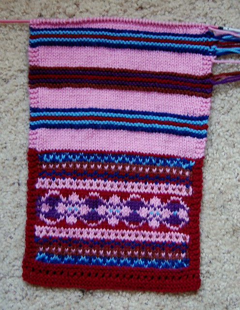 Simple Knitted Hat Pattern Free : Fair Isle Scarf Pattern Patterns Gallery