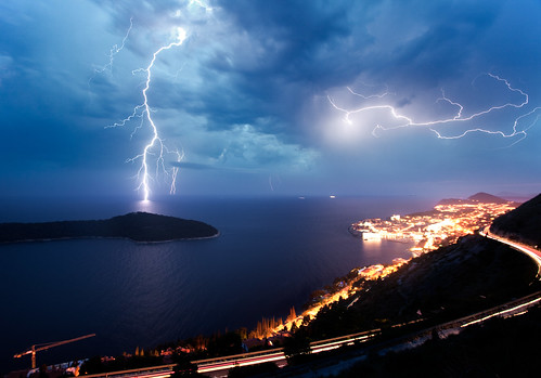 Thunderstorm on Dubrovnic