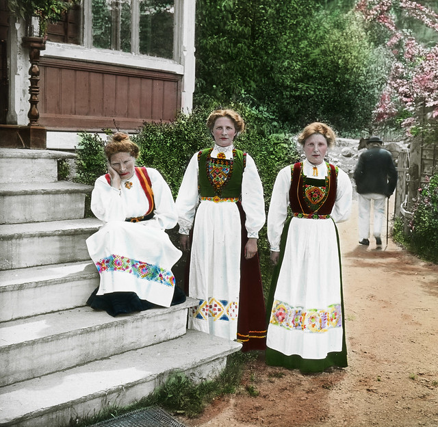 Women in national costume, Sundal Guesthouse.