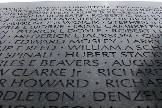 Washington DC Vietnam Veterans Memorial Wall The