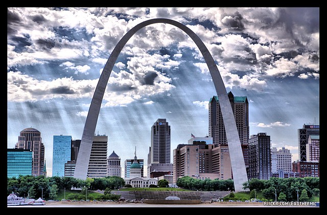 The Gateway Arch by CC user exothermic on Flickr