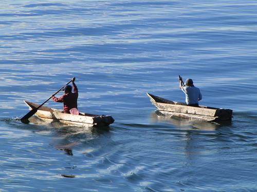 Pescadores maias - lago Atitlan
