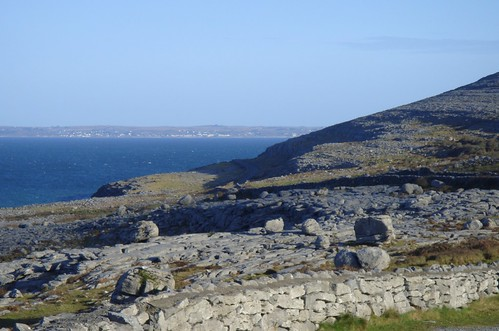 Landscape The Burren County Clare, Stone walls