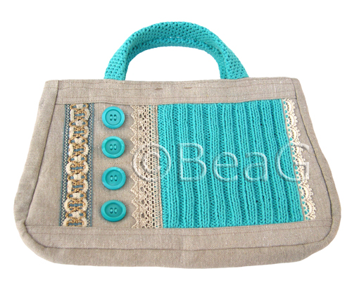 Handbag 'Blue Stitches' (Handtas)