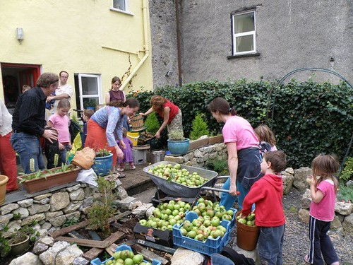 community cider-making in Cloughjordan, Ireland (courtesy of Cloughjordan EcoVillage)