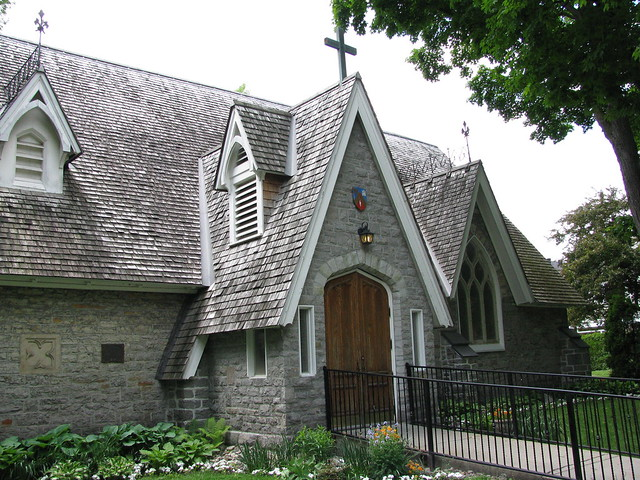 A photograph of St. Bartholomew's Anglican Church in New Edinburgh