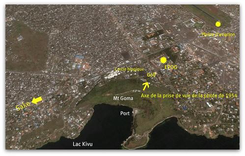 Localisation de l'EPOG dans son environnement actuel.( GOMA )