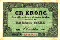 Norges Bank, 1 Krone, 1917