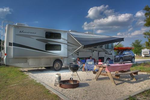 Camp site Lake Louisa Florida