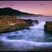 Evening wave at Point Lobos, Monterey Coast, California