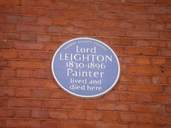 Photo of Frederic Leighton blue plaque