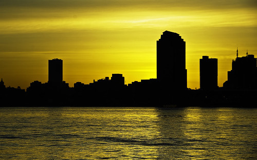 nyc ny silhouette sunrise golden pentax manhattan april jjp