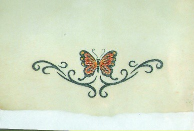 Tribal   Tattoos on Tribal Tattoo With Butterfly On Lower Back   Flickr   Photo Sharing