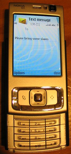 Predictive text on the Nokia N95