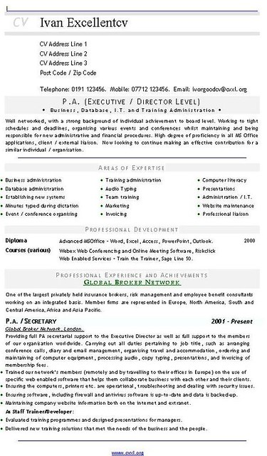 pa  executive - director level  cv - resume