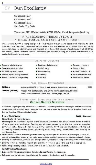 pa  executive - director level  cv