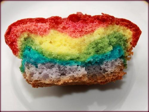 Rainbow Muffins Inside