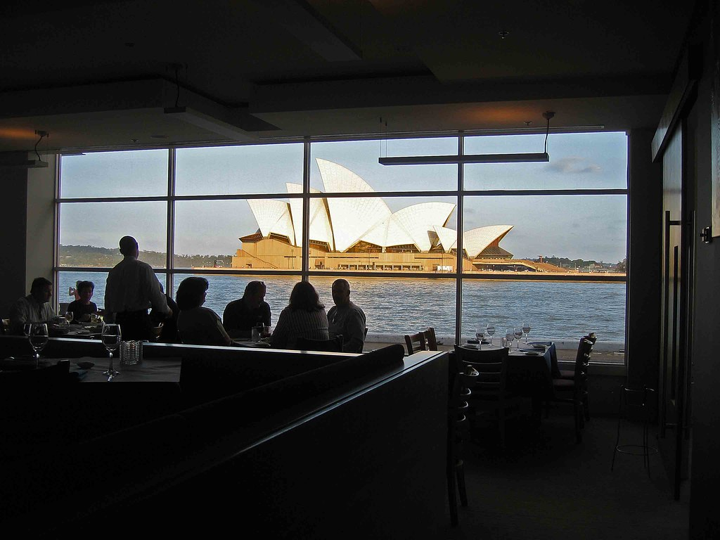 Sydney Opera House from a harbor resturaunt