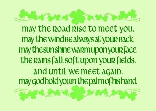 irish blessing may the road rise to meet you lyrics