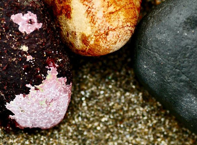 a trio of pebbles