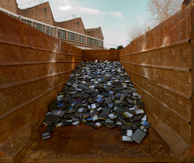 discarded video tapes BBC 2007