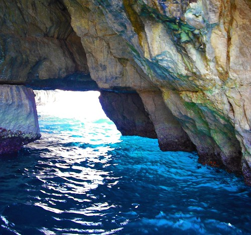 Inside a Cave, The Blue Grotto, near Wied iz Zurrieq, Malta