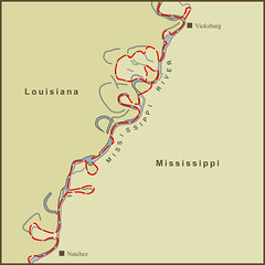 Mississippi And Louisiana Map.A Map Of The Louisiana Mississippi State Border Along Th Flickr